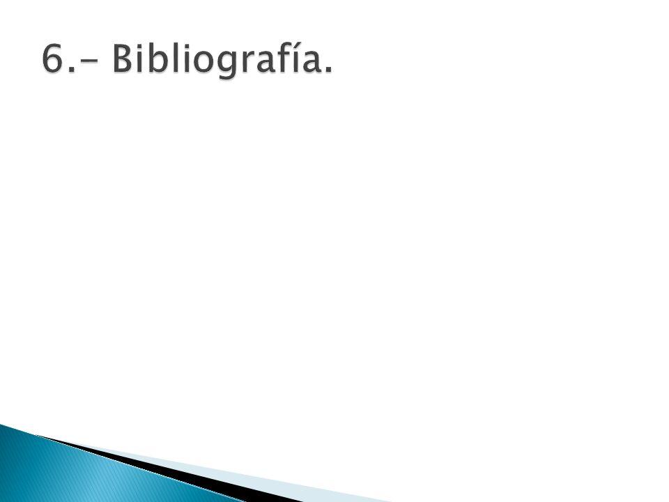 6.- Bibliografía.