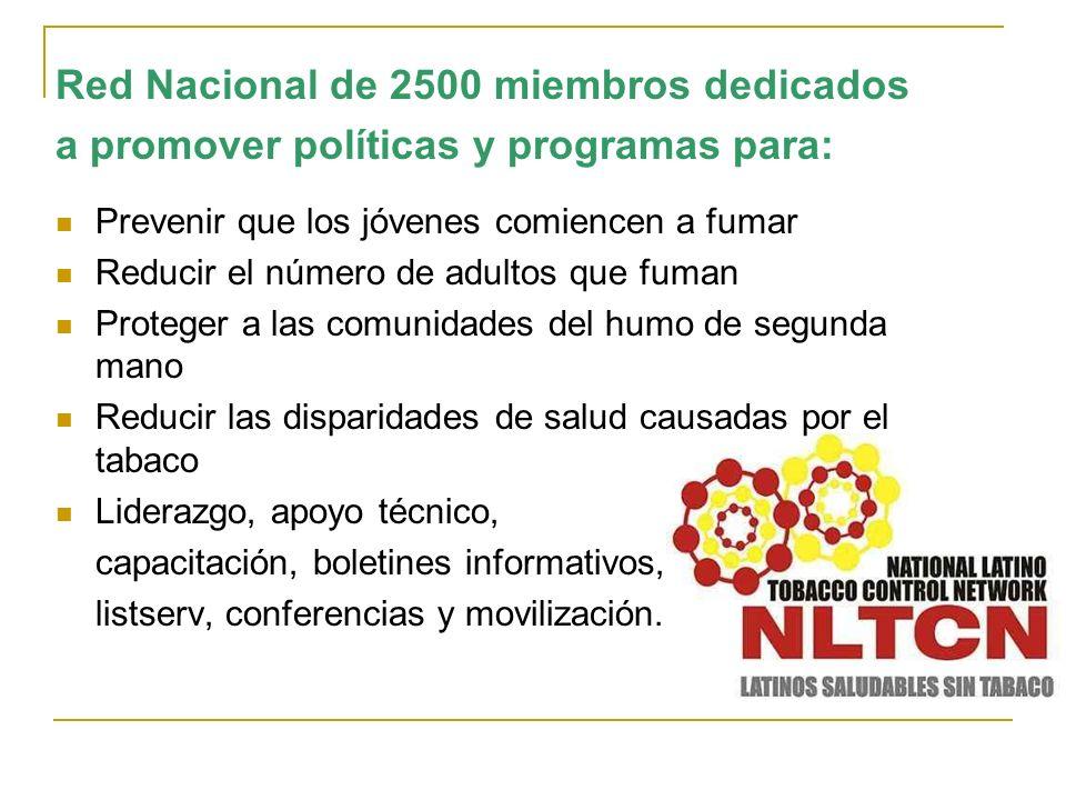 Red Nacional de 2500 miembros dedicados