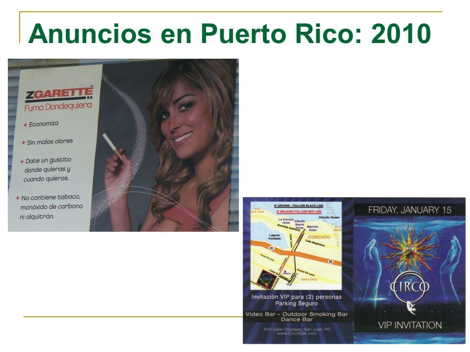 Anuncios en Puerto Rico: 2010
