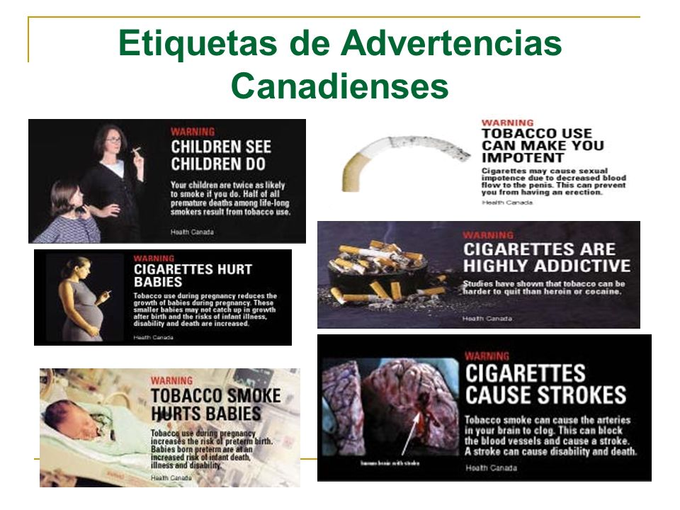 Etiquetas de Advertencias Canadienses
