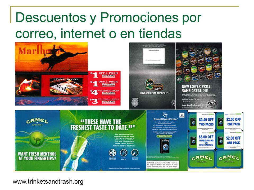 Descuentos y Promociones por correo, internet o en tiendas