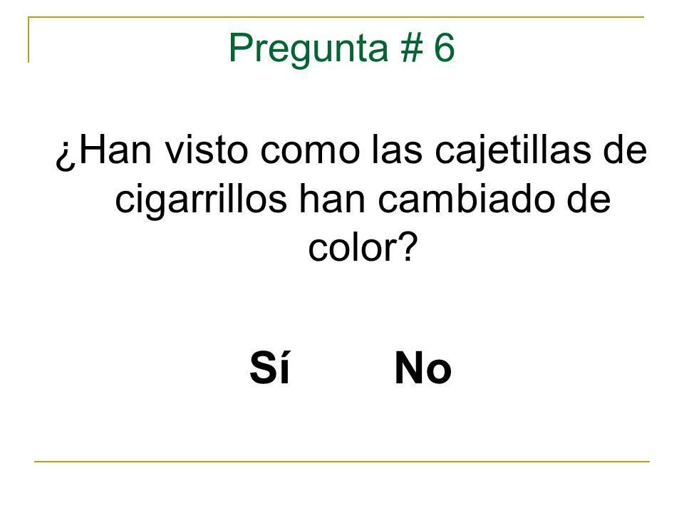 ¿Han visto como las cajetillas de cigarrillos han cambiado de color