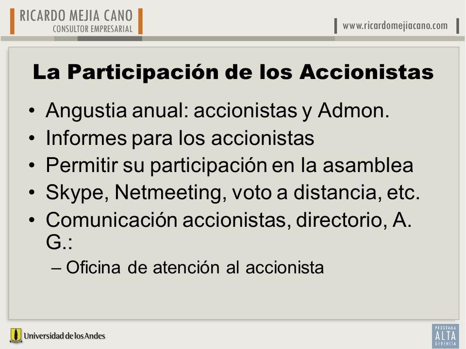 La Participación de los Accionistas