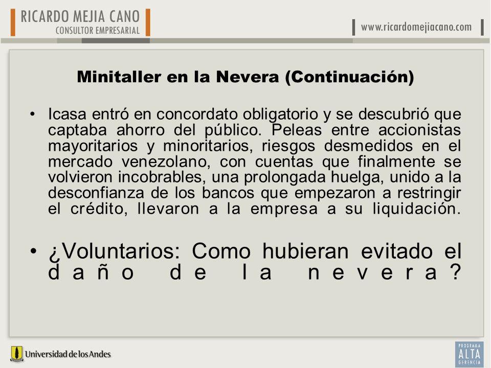 Minitaller en la Nevera (Continuación)