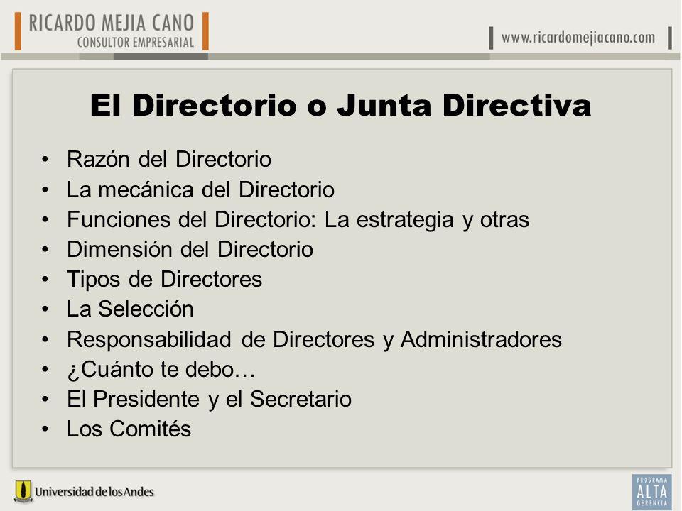 El Directorio o Junta Directiva