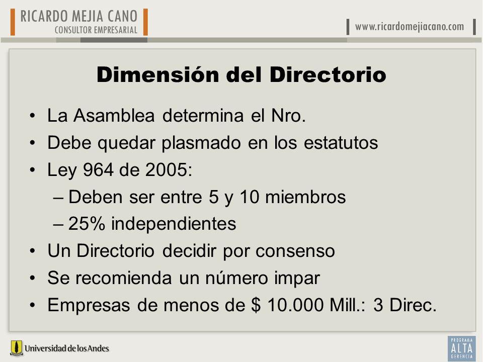 Dimensión del Directorio