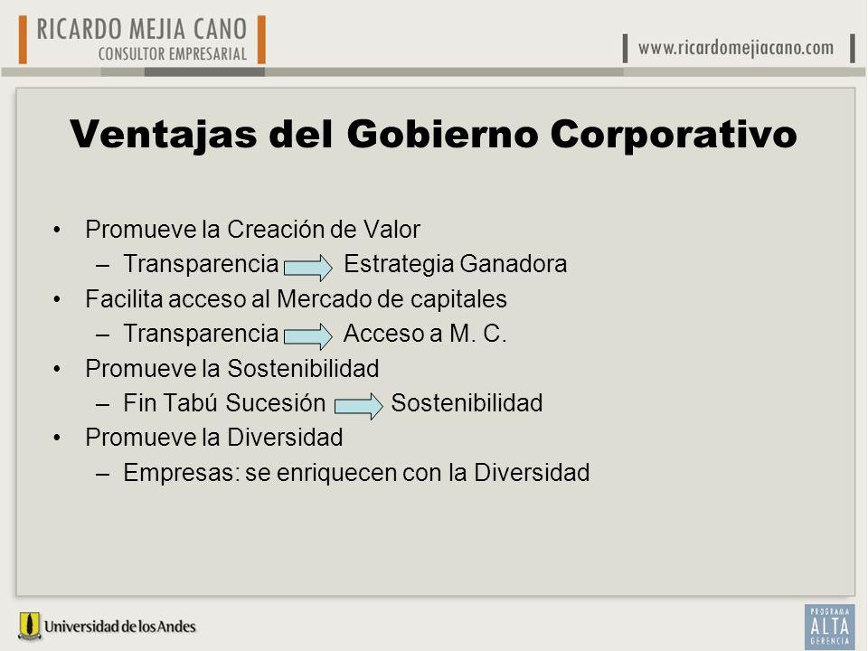 Ventajas del Gobierno Corporativo