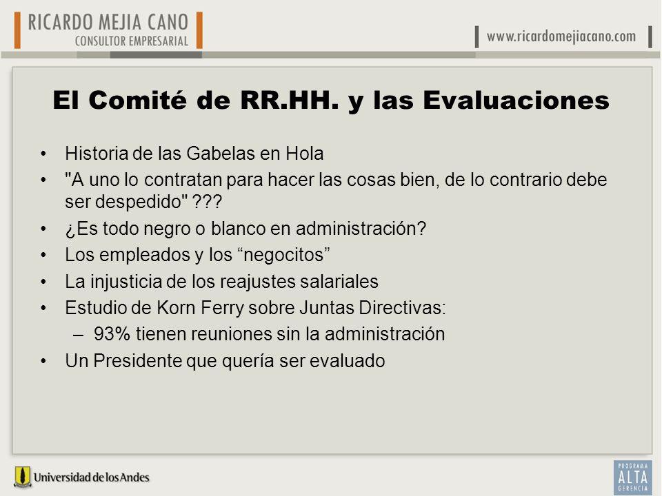 El Comité de RR.HH. y las Evaluaciones