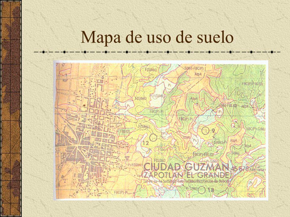 Mapa de uso de suelo