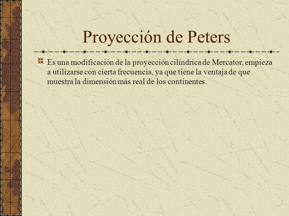 Proyección de Peters