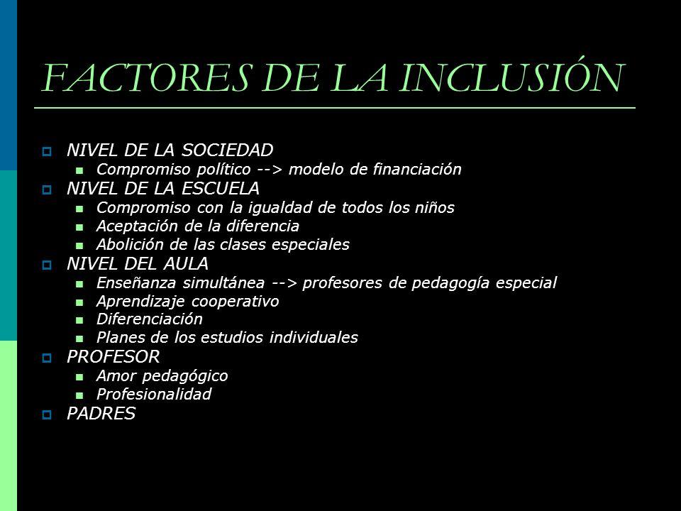 FACTORES DE LA INCLUSIÓN