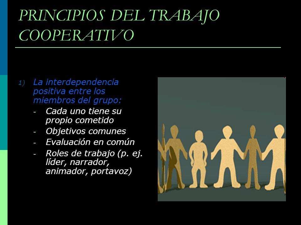 PRINCIPIOS DEL TRABAJO COOPERATIVO