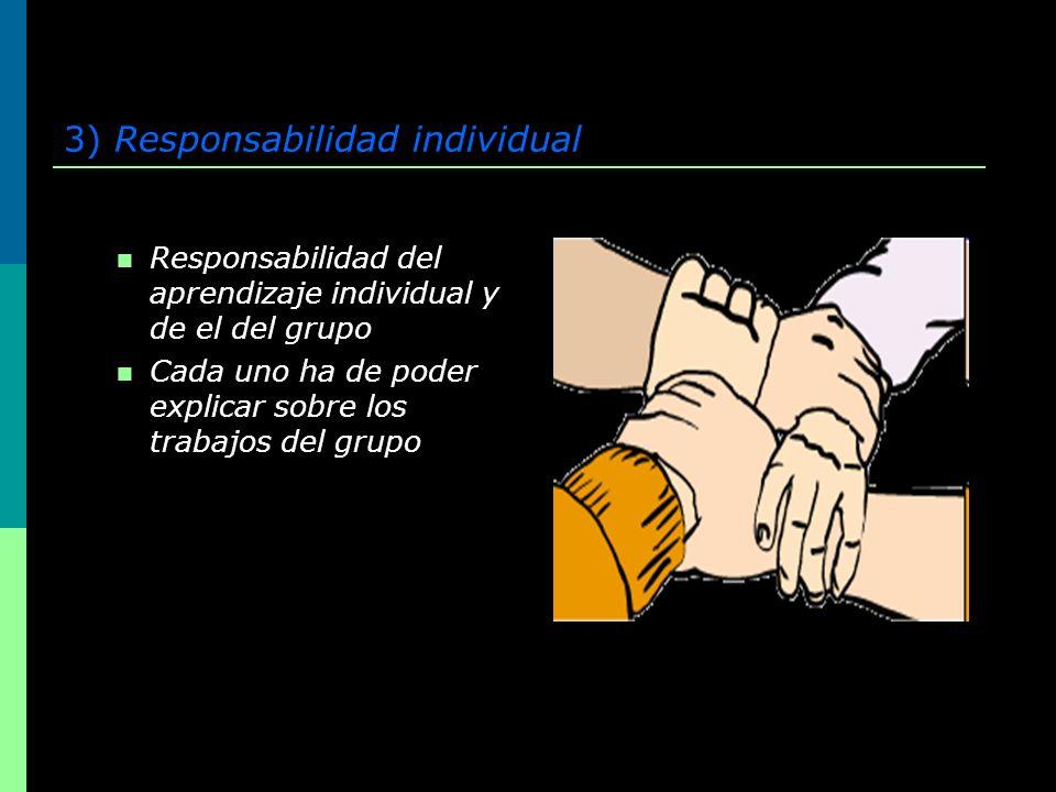3) Responsabilidad individual