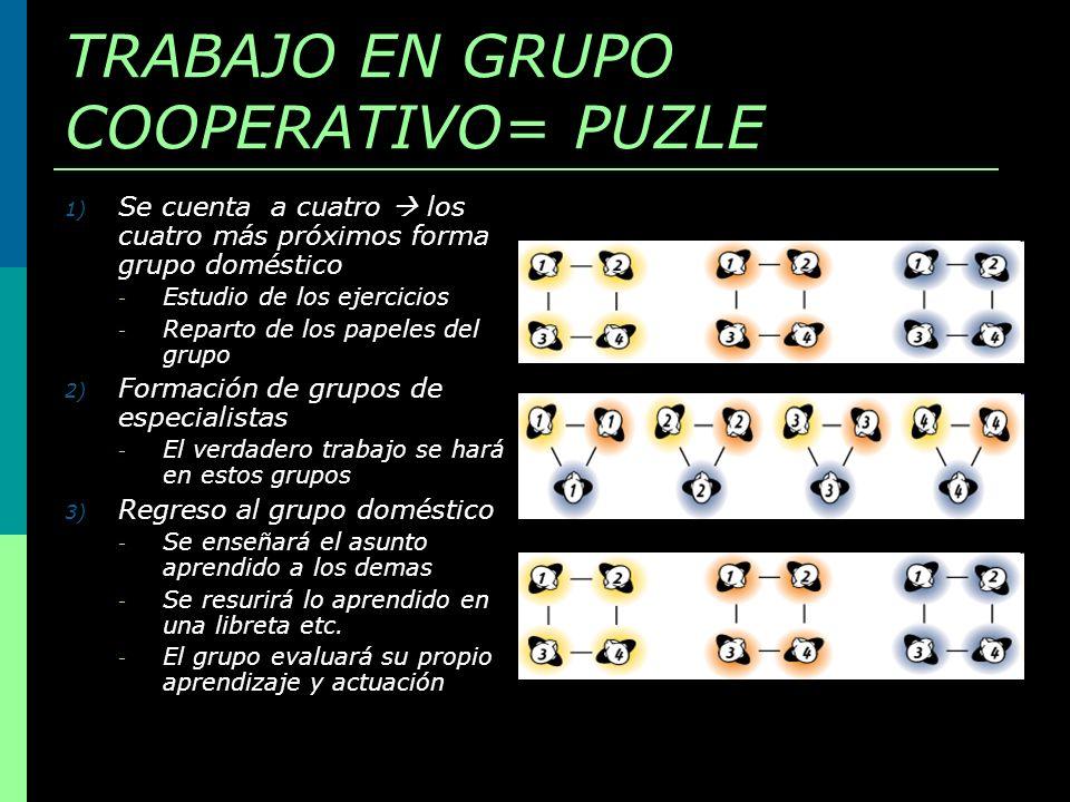 TRABAJO EN GRUPO COOPERATIVO= PUZLE