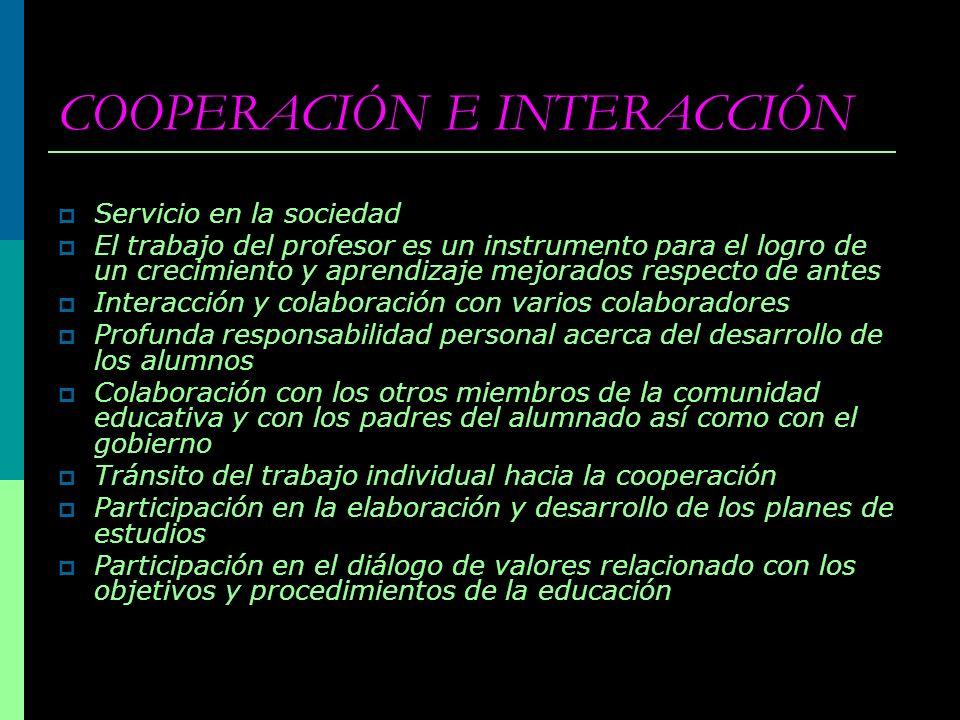 COOPERACIÓN E INTERACCIÓN
