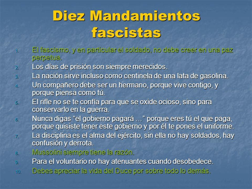 Diez Mandamientos fascistas