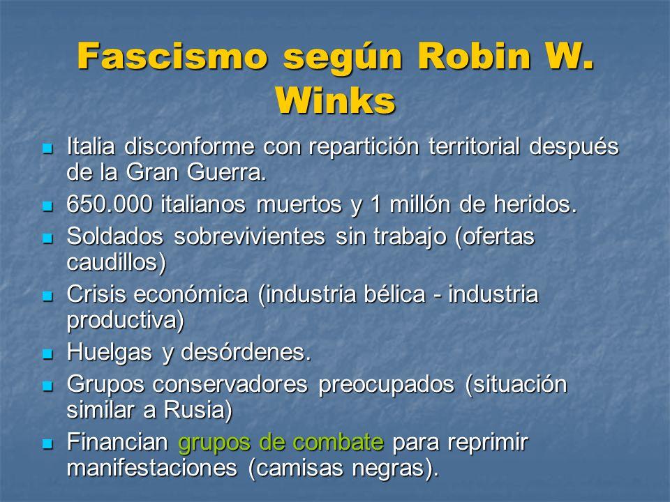 Fascismo según Robin W. Winks