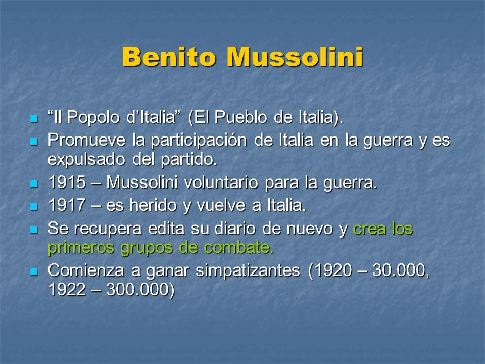 Benito Mussolini Il Popolo d'Italia (El Pueblo de Italia).