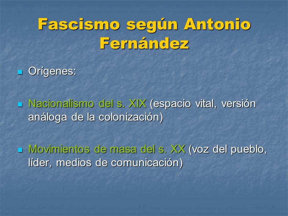 Fascismo según Antonio Fernández