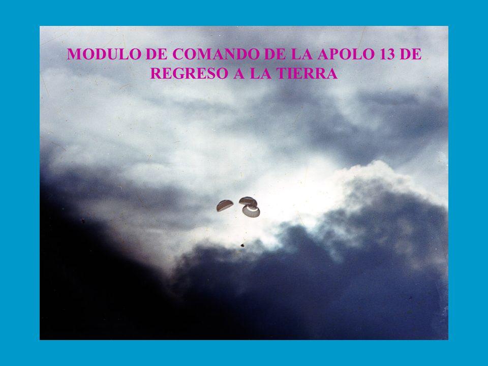 MODULO DE COMANDO DE LA APOLO 13 DE REGRESO A LA TIERRA