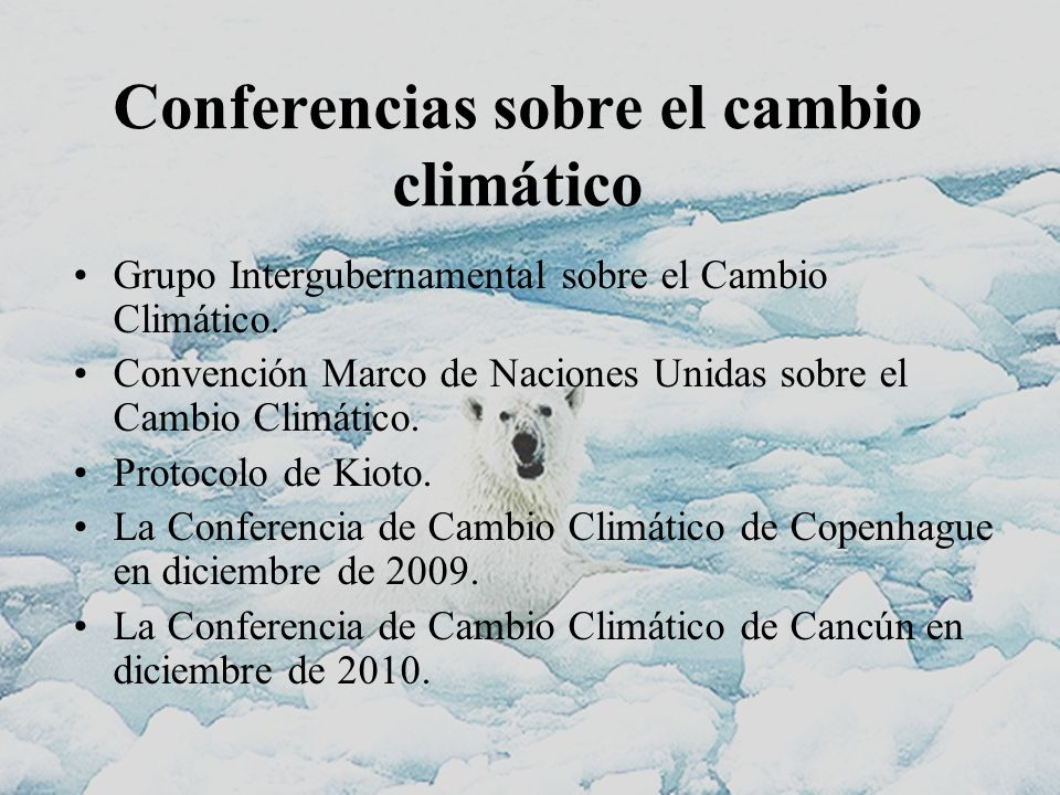 Conferencias sobre el cambio climático