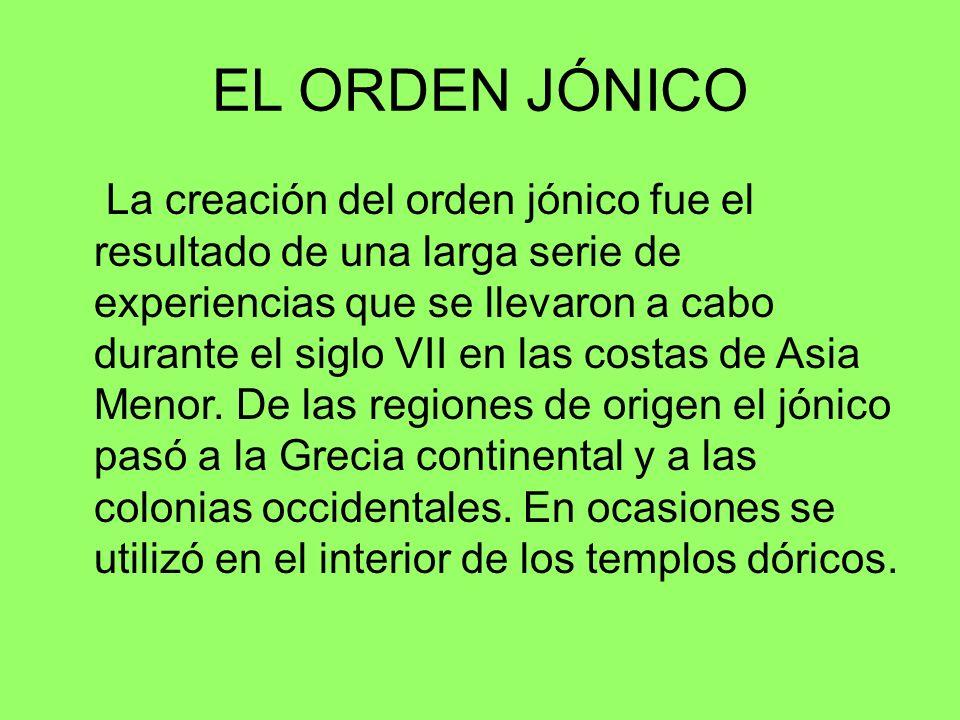 EL ORDEN JÓNICO