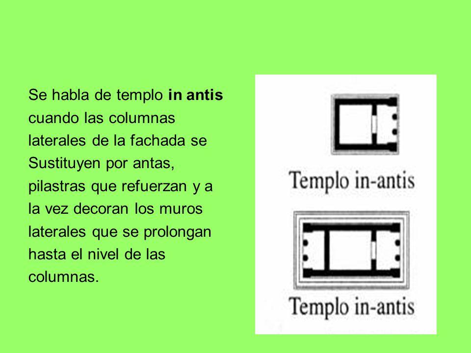 Se habla de templo in antis