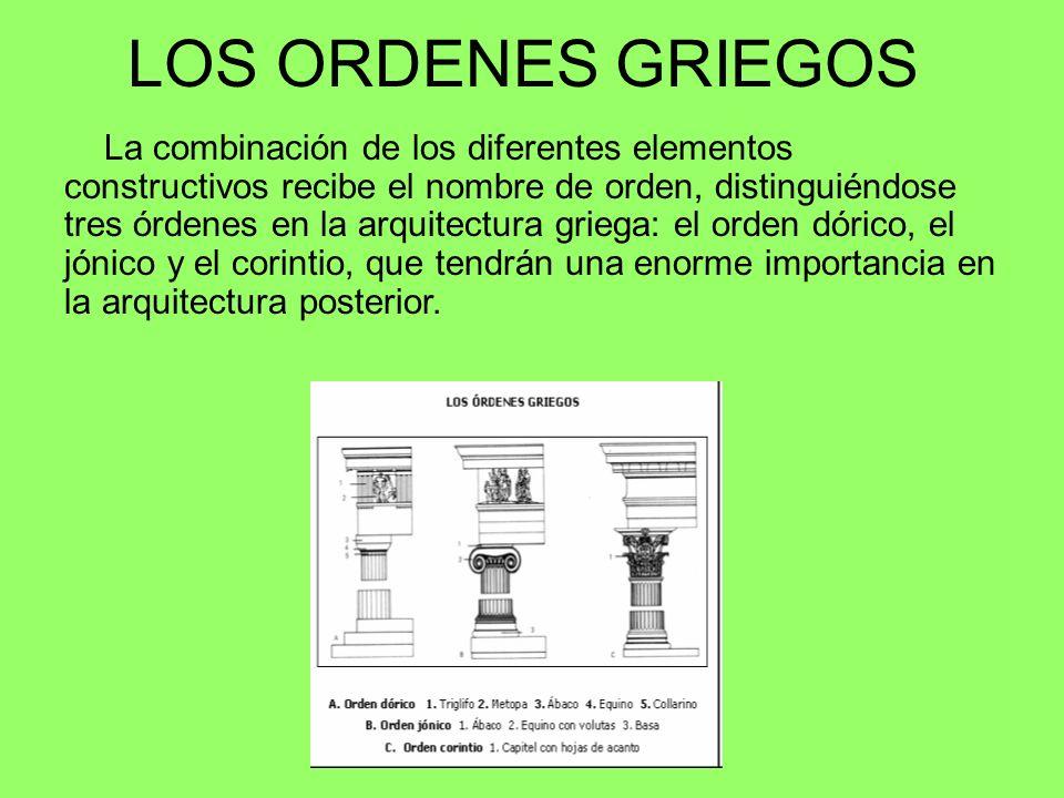LOS ORDENES GRIEGOS
