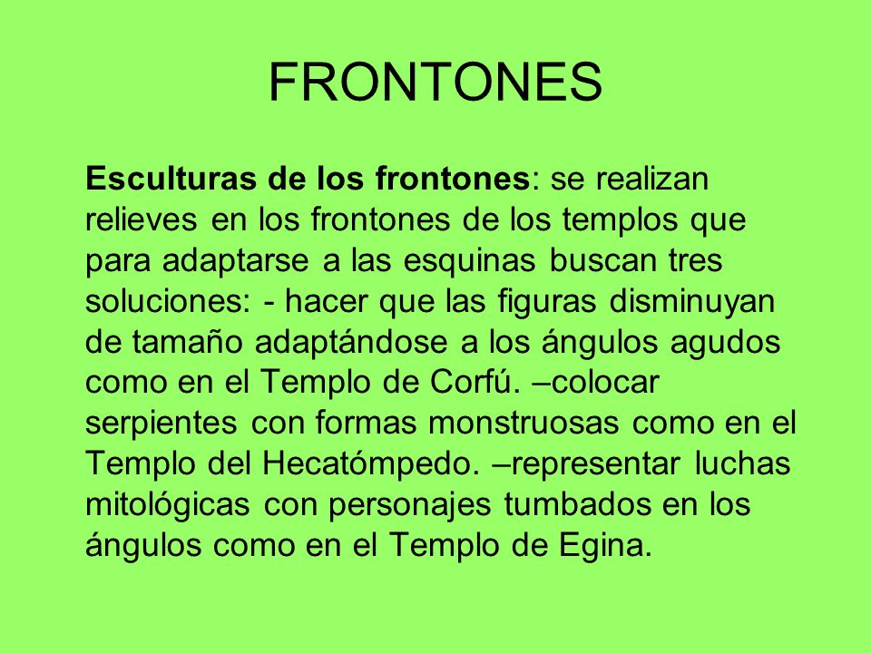 FRONTONES