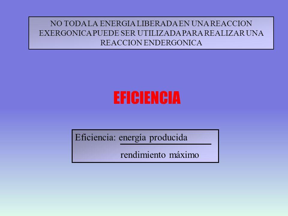 EFICIENCIA Eficiencia: energía producida rendimiento máximo