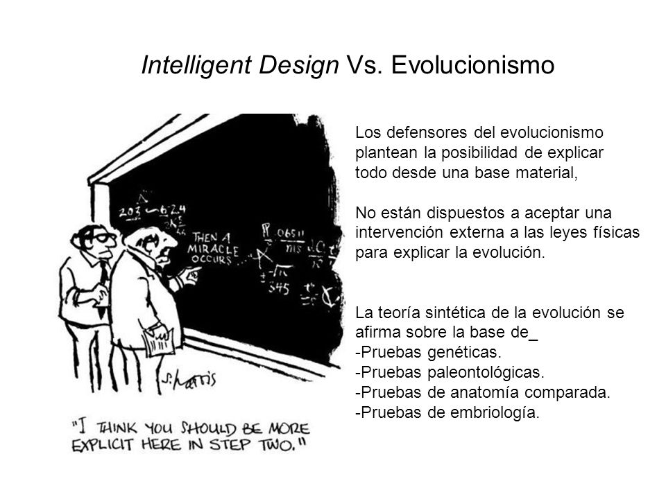 Intelligent Design Vs. Evolucionismo