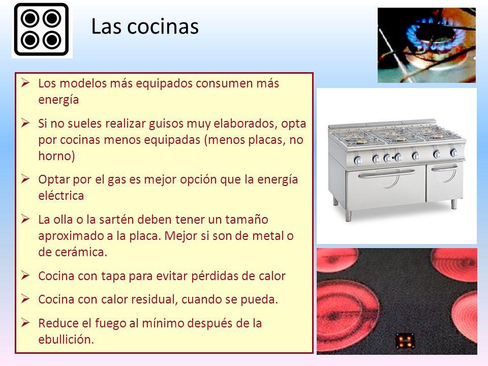Las cocinas Los modelos más equipados consumen más energía