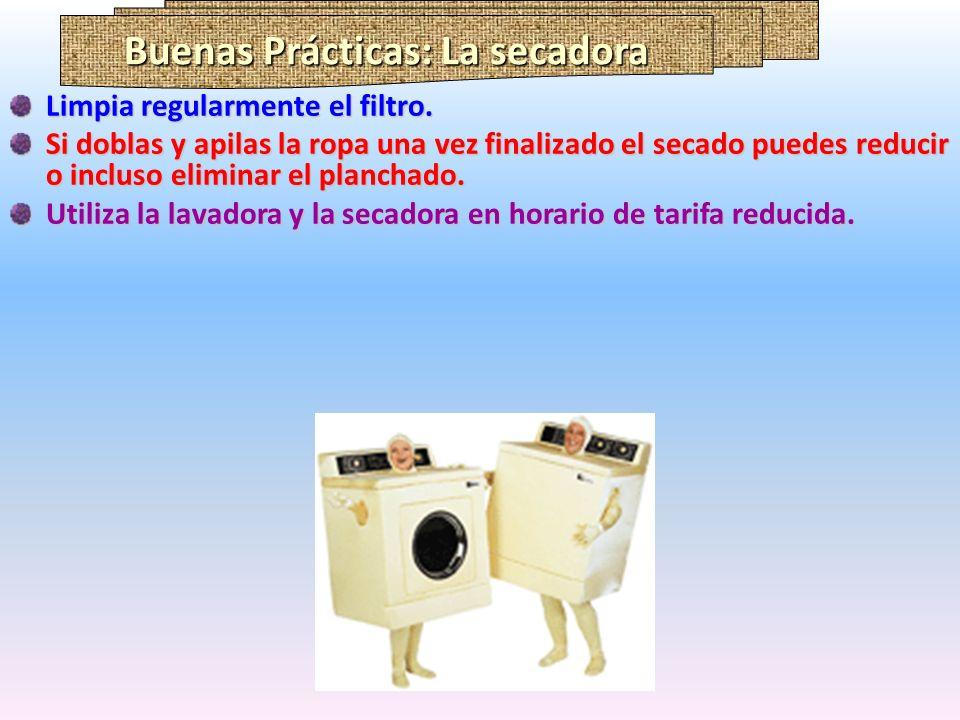 Buenas Prácticas: La secadora