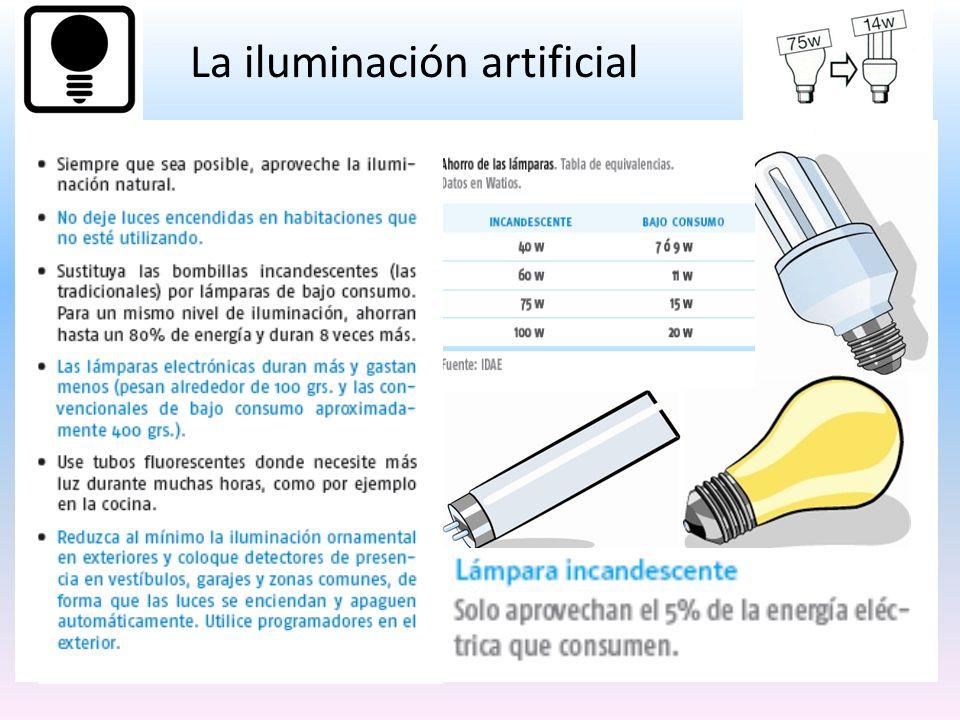 La iluminación artificial