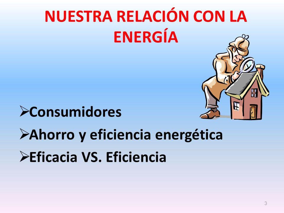 NUESTRA RELACIÓN CON LA ENERGÍA