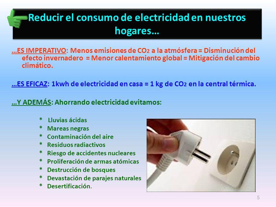 Reducir el consumo de electricidad en nuestros hogares…