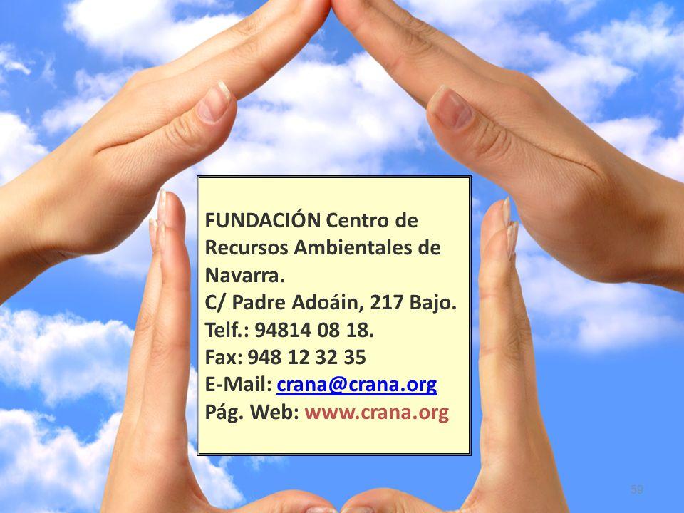FUNDACIÓN Centro de Recursos Ambientales de Navarra.