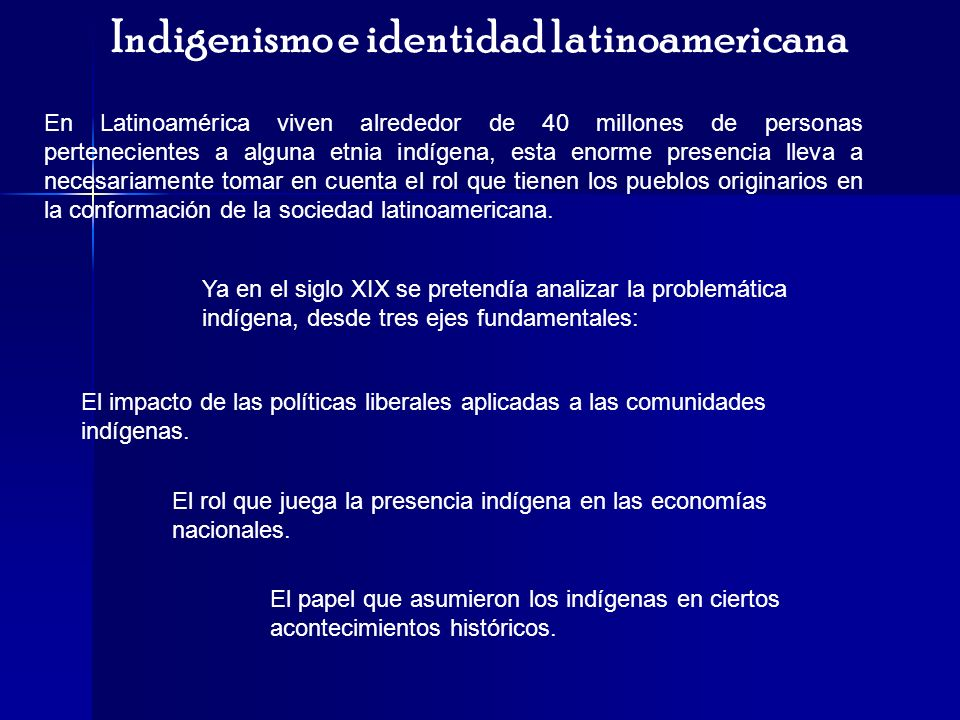Indigenismo e identidad latinoamericana