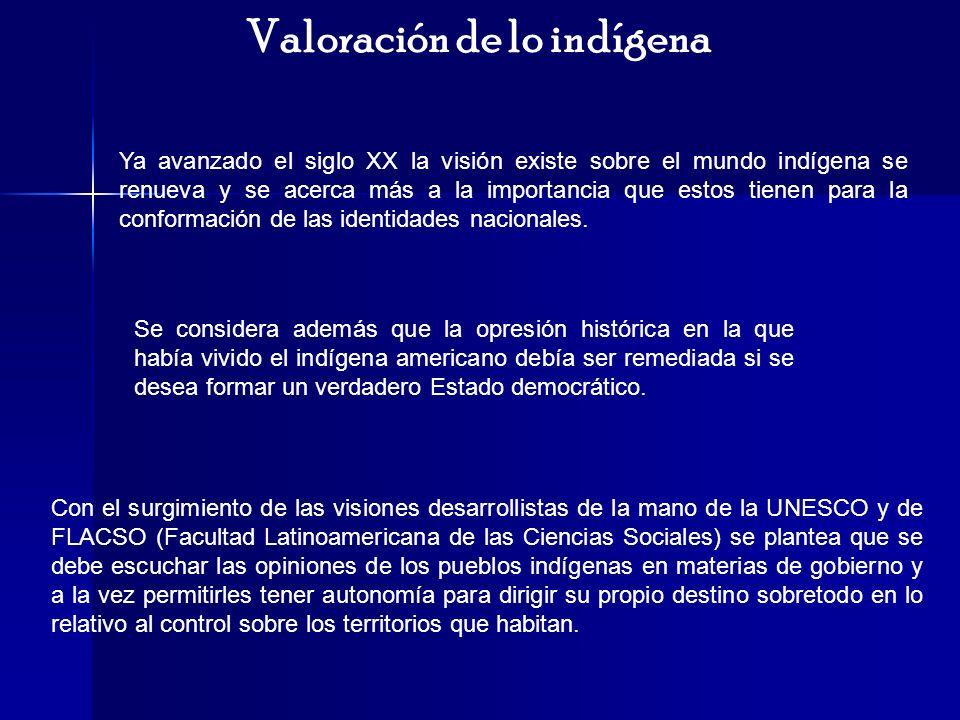 Valoración de lo indígena