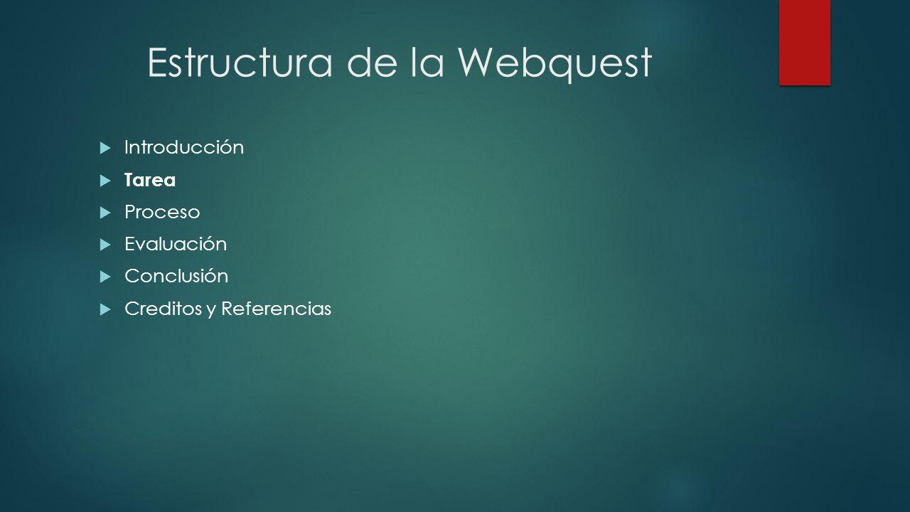 Estructura de la Webquest