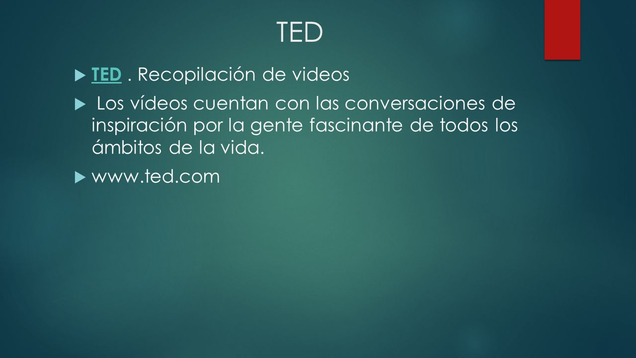 TED TED . Recopilación de videos