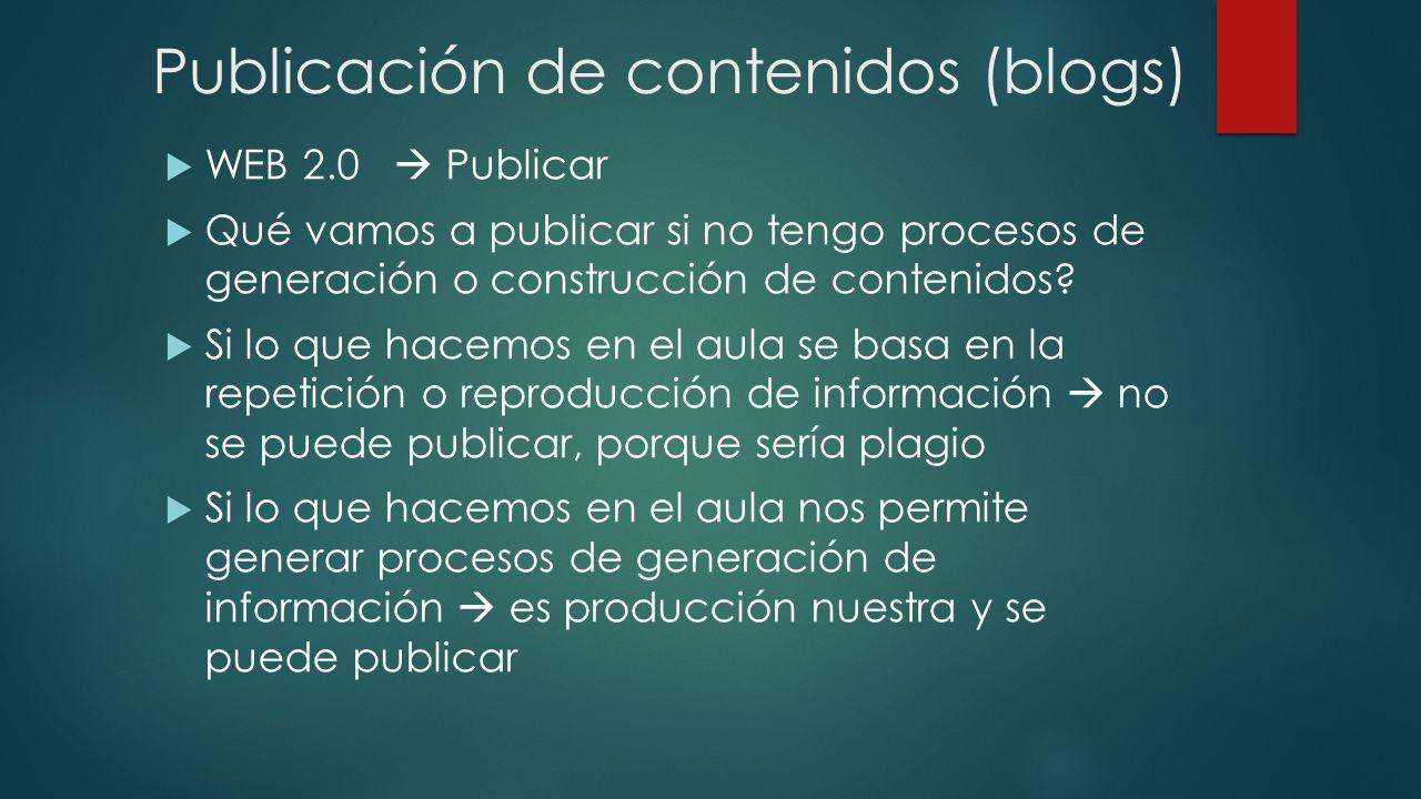 Publicación de contenidos (blogs)