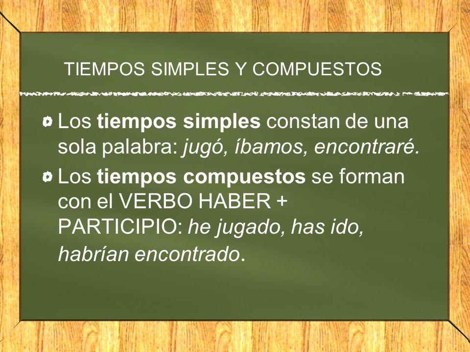 TIEMPOS SIMPLES Y COMPUESTOS