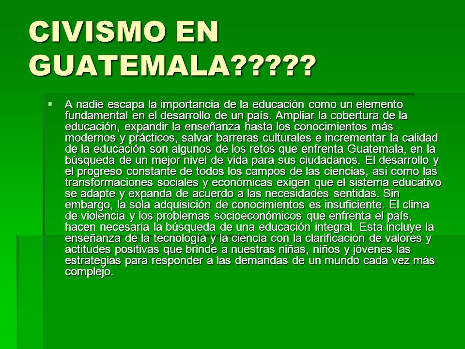 CIVISMO EN GUATEMALA