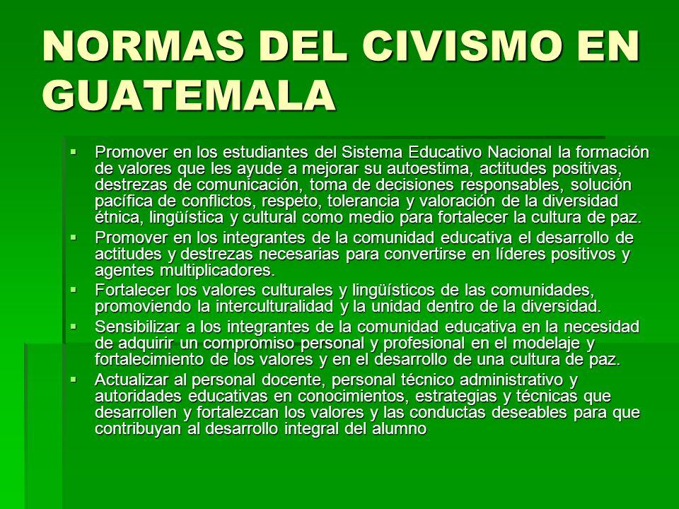 NORMAS DEL CIVISMO EN GUATEMALA