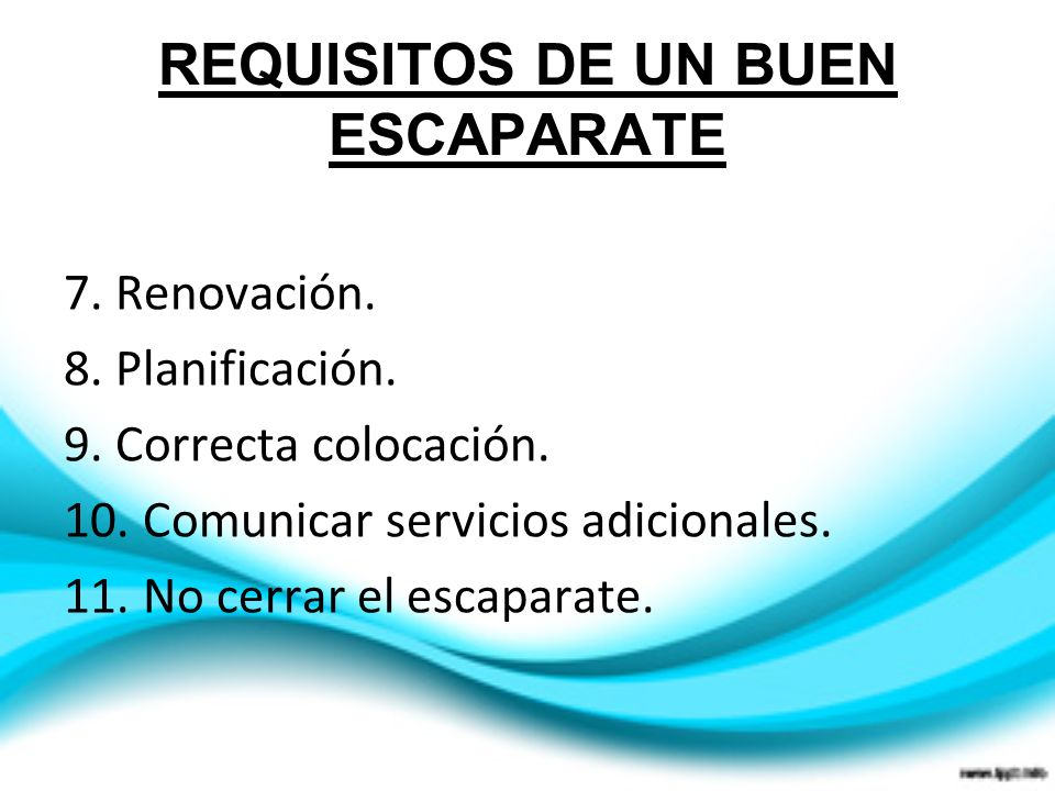 REQUISITOS DE UN BUEN ESCAPARATE