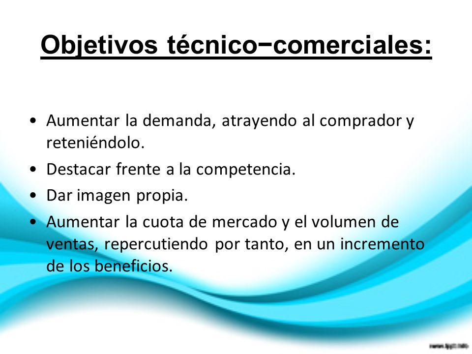 Objetivos técnico−comerciales: