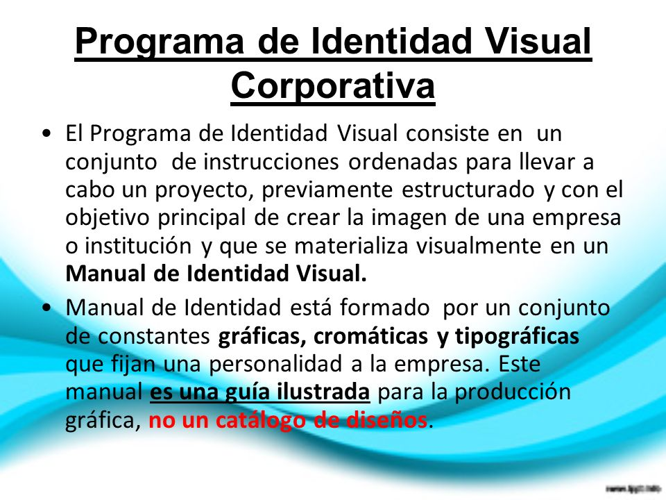 Programa de Identidad Visual Corporativa
