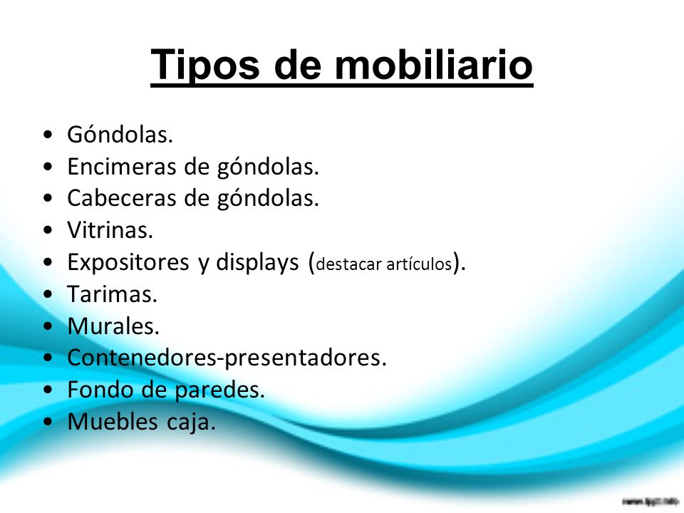 Marketing en el punto de venta ppt video online descargar for Diferentes tipos de muebles