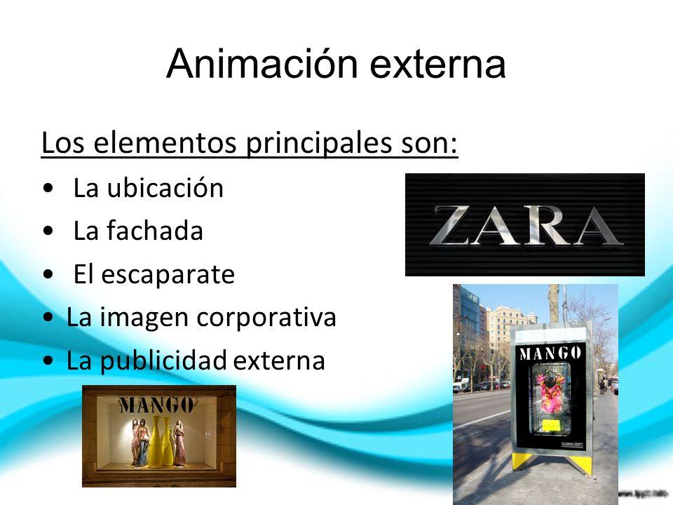 Animación externa Los elementos principales son: La ubicación